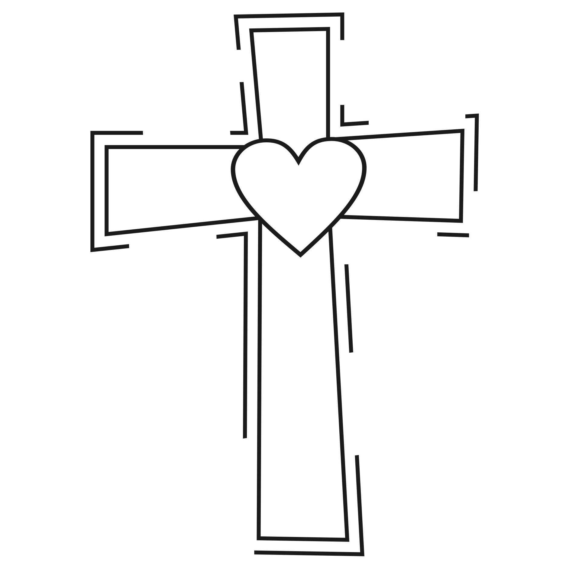 Heart and cross black and white clipart clip art free stock Clipart Design Ideas Clipart Religious Heart Cross ... clip art free stock