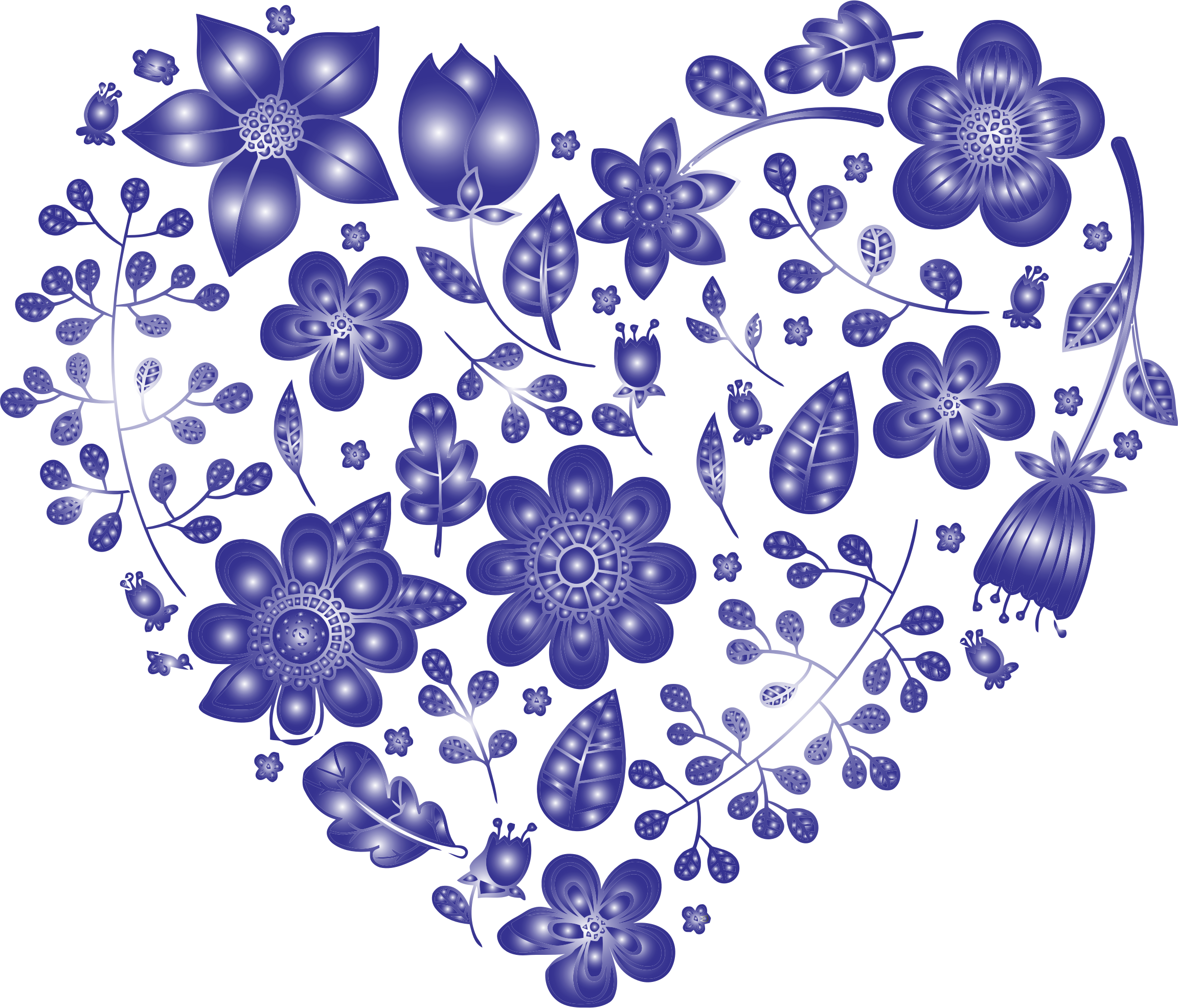 Heart and flowers clipart png royalty free library Clipart - Violet Floral Heart No Background png royalty free library