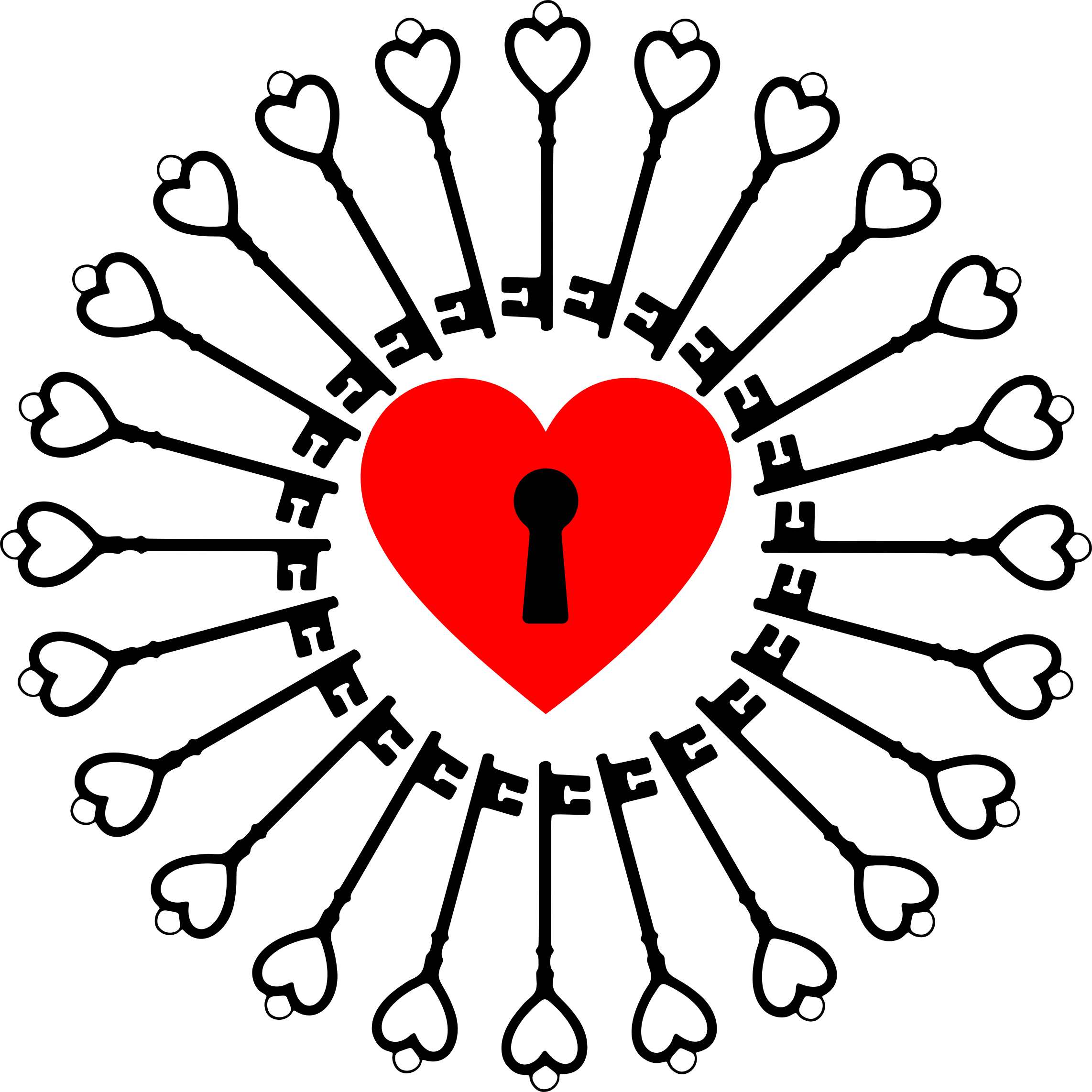 Heart and key clipart clip royalty free stock Clipart - Locked Heart And Keys clip royalty free stock