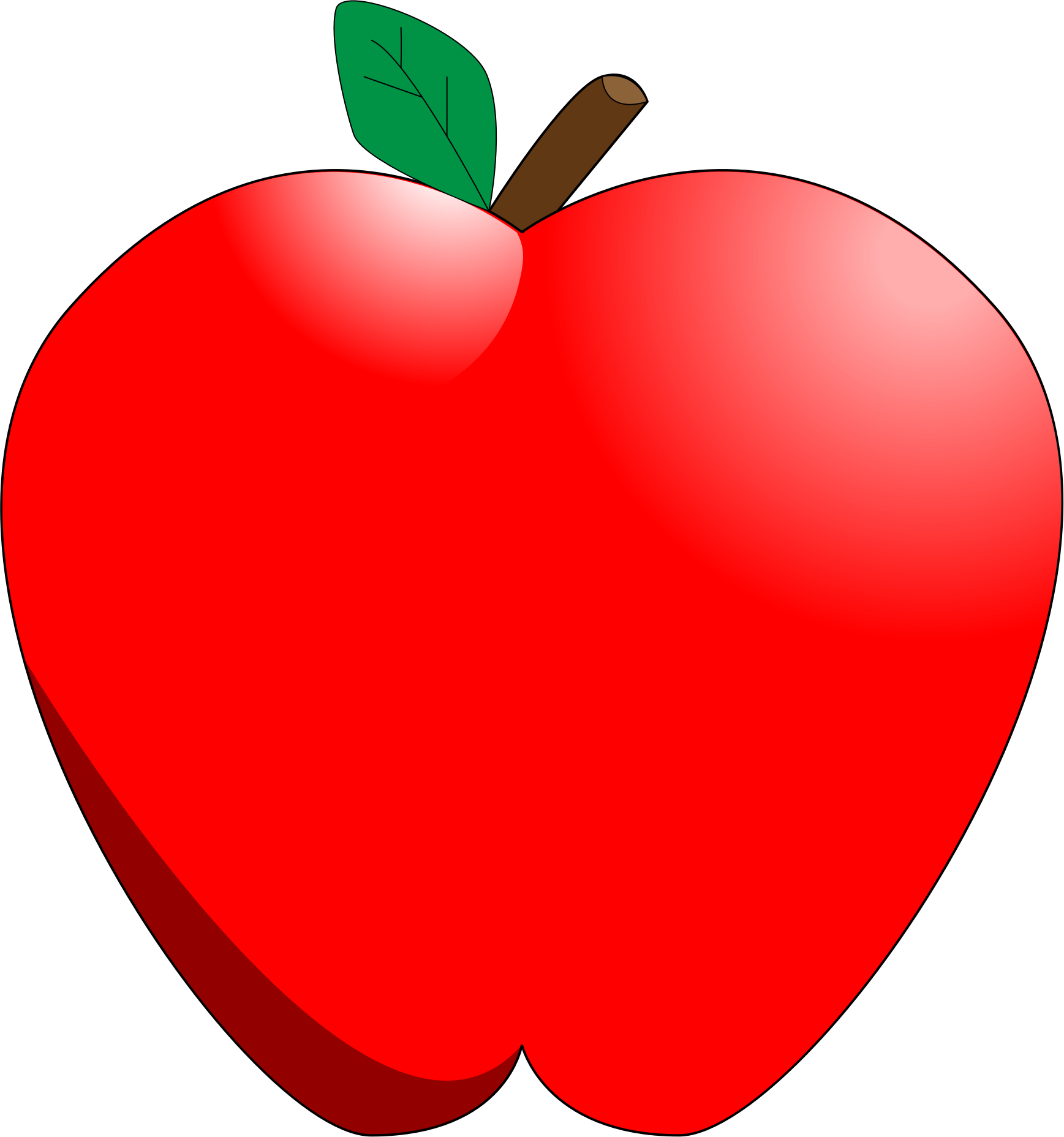 Heart around apple clipart svg library download Cartoon Apple Icons PNG - Free PNG and Icons Downloads svg library download