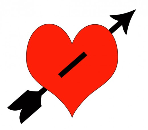 Heart arrow clip art clipart black and white Heart With Arrow Clip Art - ClipArt Best clipart black and white