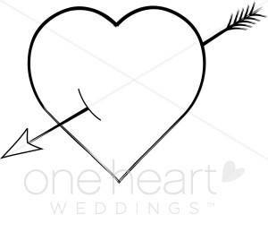 Heart arrow clip art vector library library Heart With Arrow Clipart - Clipart Kid vector library library