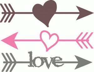 Heart arrow clip art graphic black and white library I think I'm in love with this shape from the Silhouette Online ... graphic black and white library
