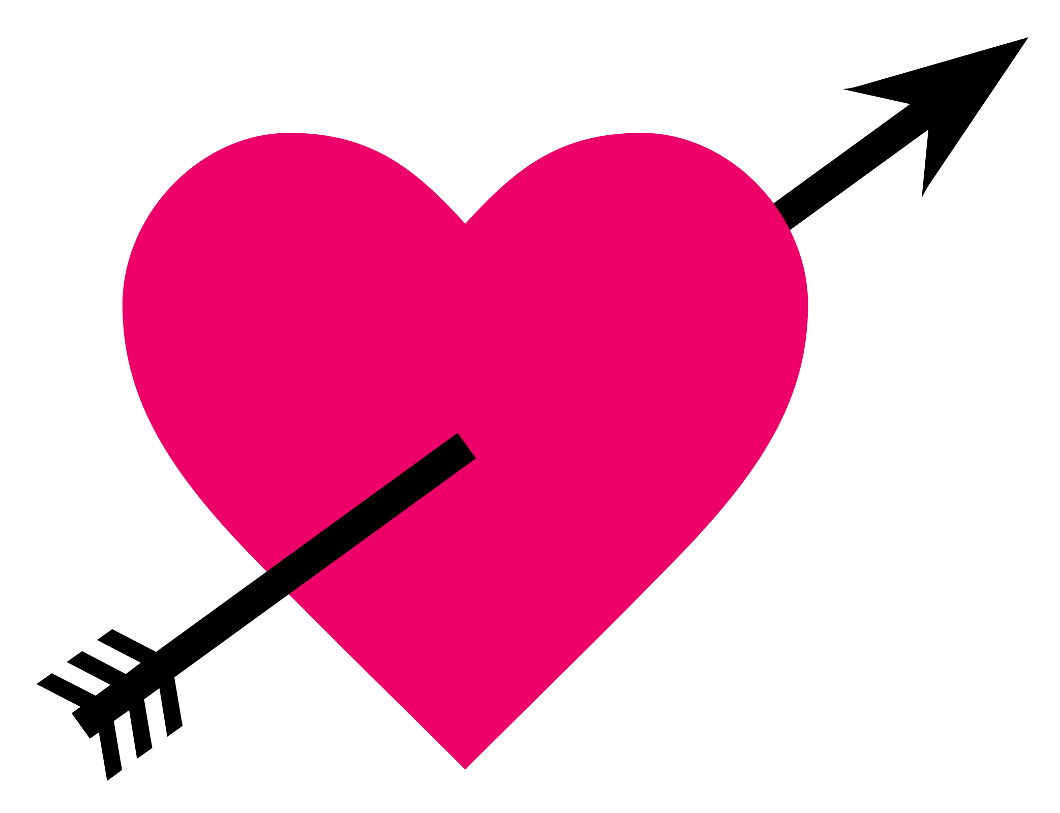 Heart arrow clip art png download Heart Love Arrow Clip art - PINK HEARTS 2085*1599 transprent Png ... png download