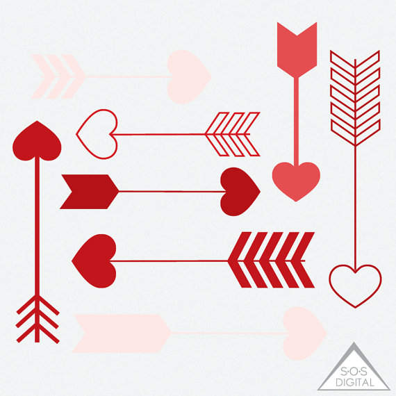 Heart arrow clip art image library library Red Heart Arrow Clipart Clipart Heart Arrows Valentine image library library