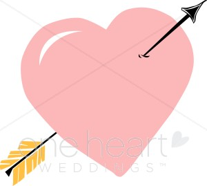 Heart arrow clip art picture free Search Results for