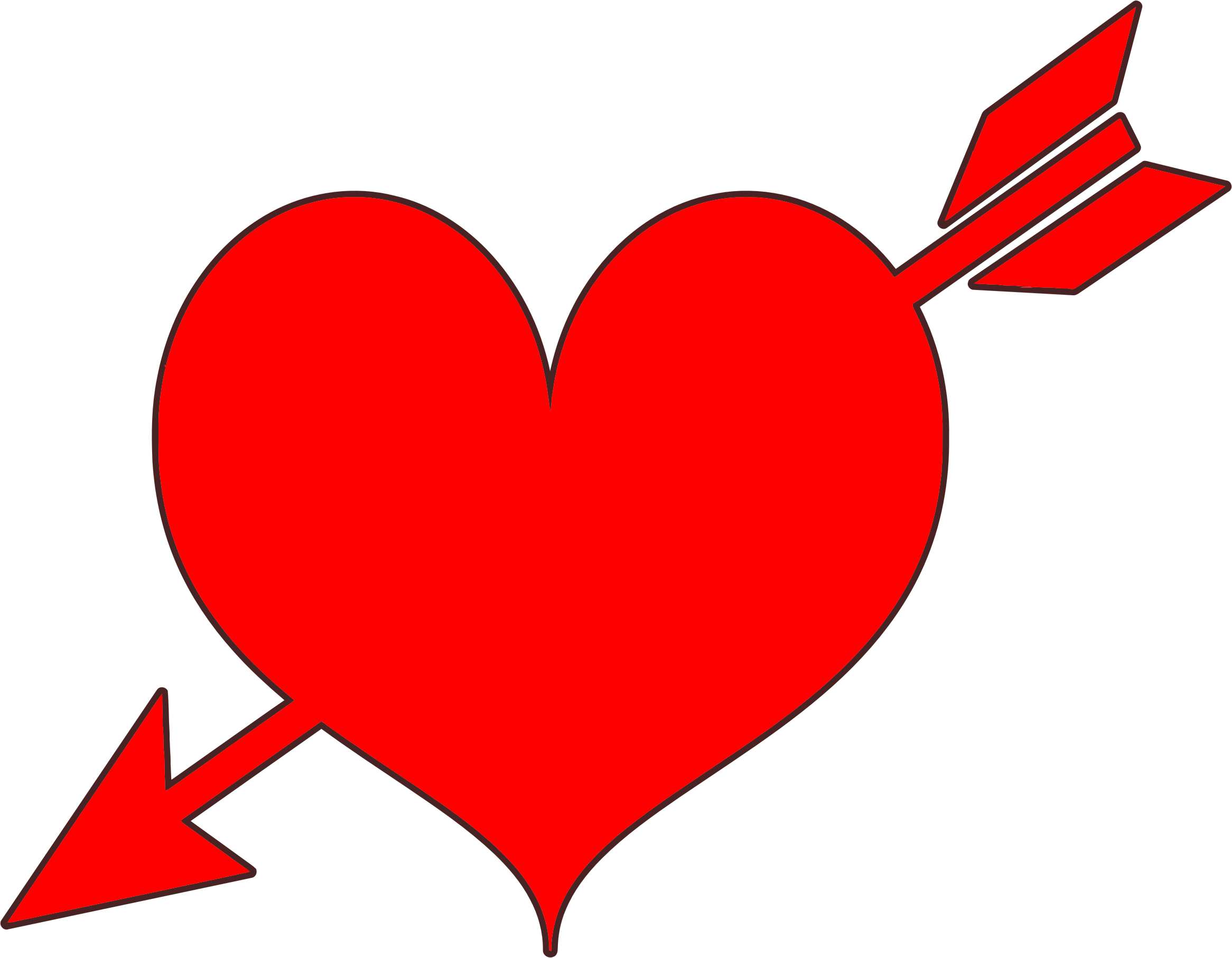 Clipart - Red Heart Arrow banner freeuse library