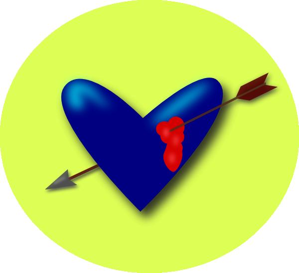 Heart arrow clipart free library Cupid Heart Arrow Clip Art at Clker.com - vector clip art online ... free library