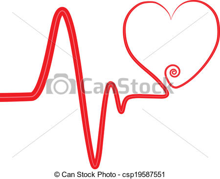 Heart artwork clipart png free download Clipart Vector of heart beat swirl heart csp19587551 - Search Clip ... png free download