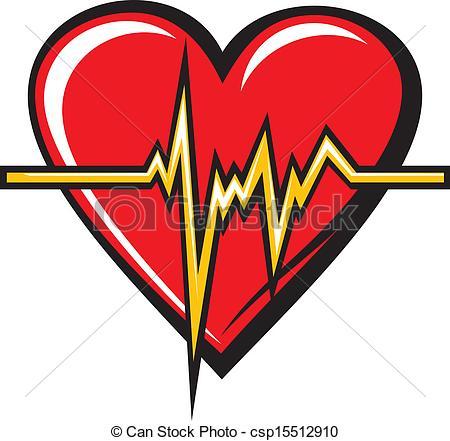 Heart artwork clipart clip transparent download Vector Clip Art of Heart beats csp15512910 - Search Clipart ... clip transparent download