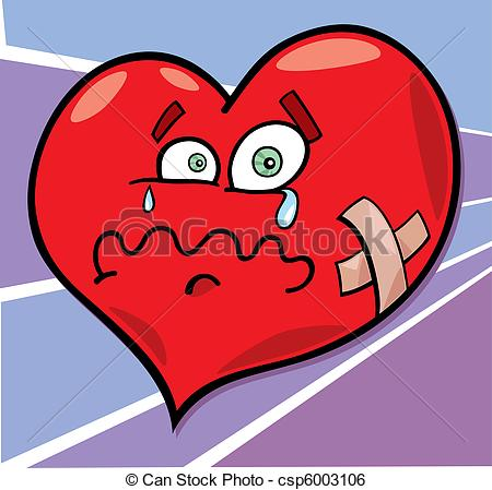 Heart artwork clipart vector royalty free stock Clip Art Vector of broken heart - cartoon illustration of broken ... vector royalty free stock