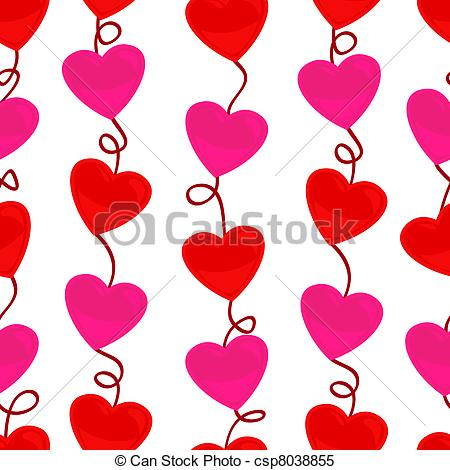 Heart artwork clipart png library download Clipart Vector of Seamless heart shape pattern - Cute and fun ... png library download
