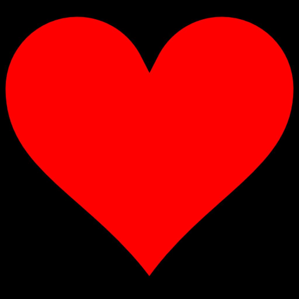 Heart background clipart jpg library stock Plain Red Heart No Background Clipart jpg library stock