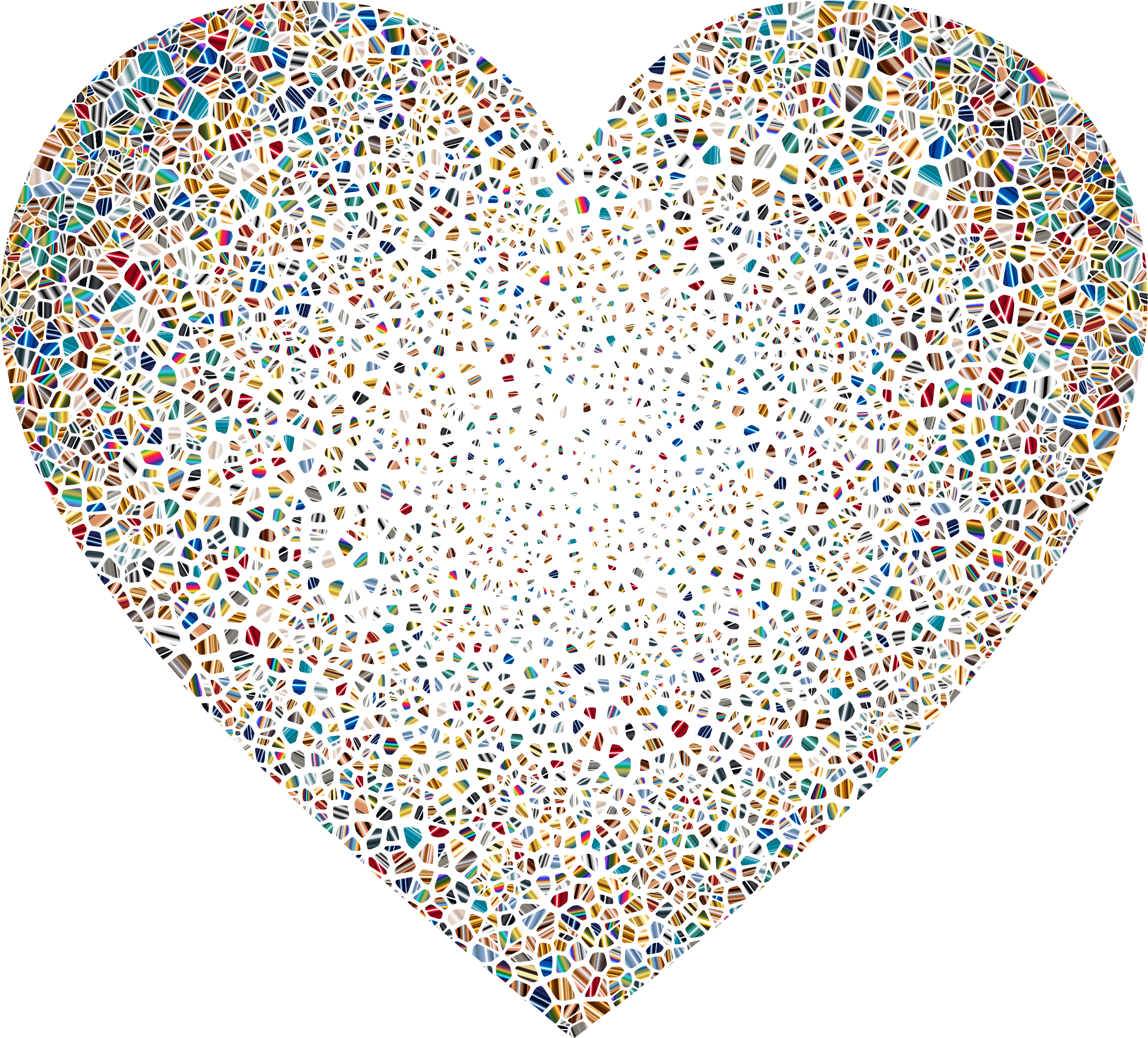 Shattered heart clipart image Clipart - Psychedelic Shattered Tiled Heart No Background image