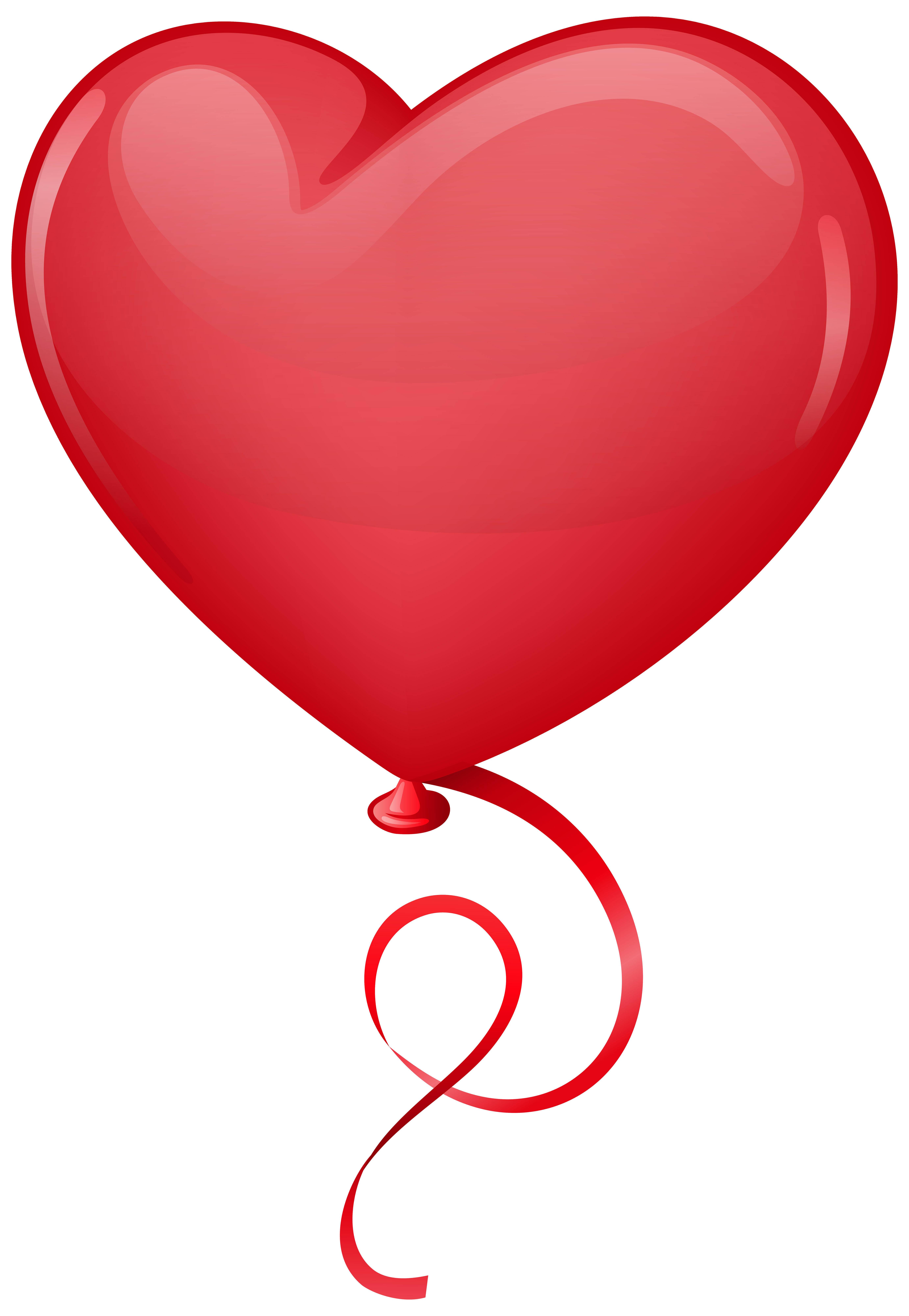 Heart balloons clipart picture transparent library Red Heart Balloon Clip Art PNG Image | Gallery Yopriceville - High ... picture transparent library