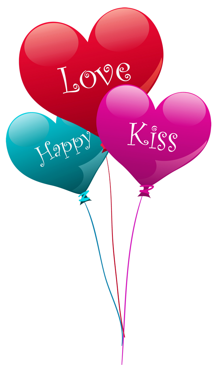 Heart bubbles clipart jpg royalty free stock Transparent Heart Kiss Love Happy Balloons PNG Clipart | love ... jpg royalty free stock