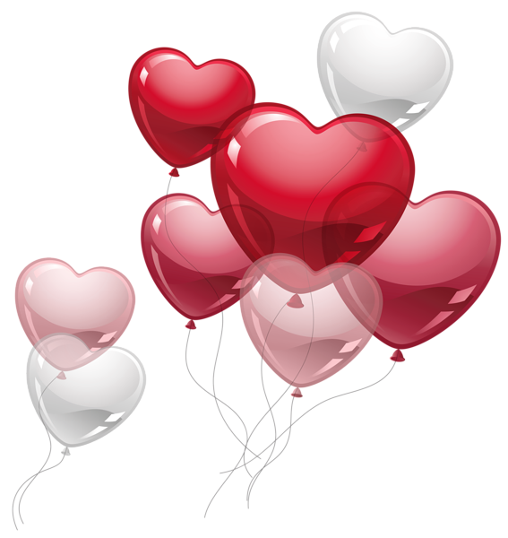 Heart balloons clipart graphic stock Cute Heart Balloons PNG Clipart Picture | Clip Art | Pinterest ... graphic stock