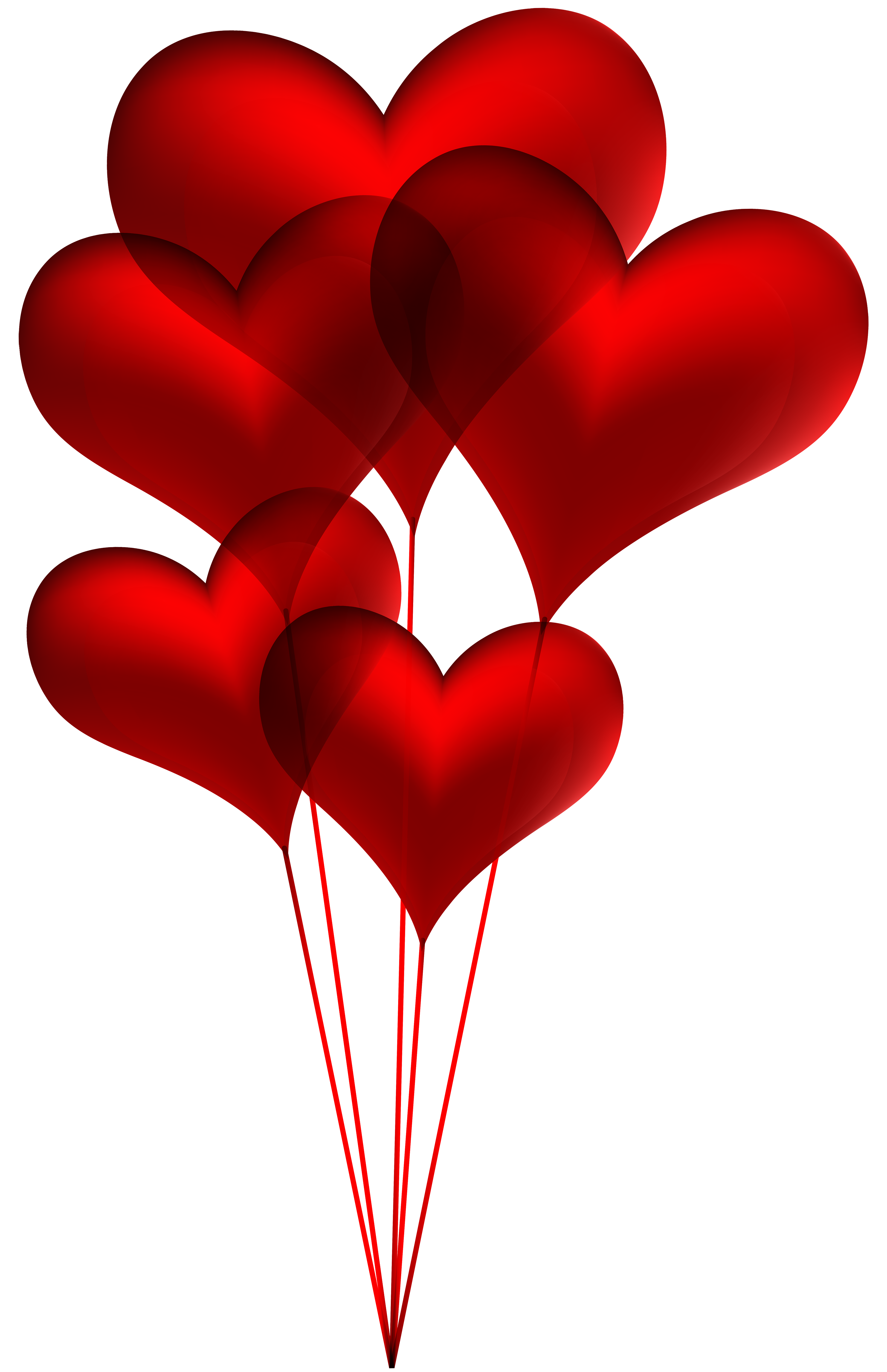 Heart balloon clipart png black and white Red Heart Balloons Transparent PNG Clip Art Image | Gallery ... png black and white