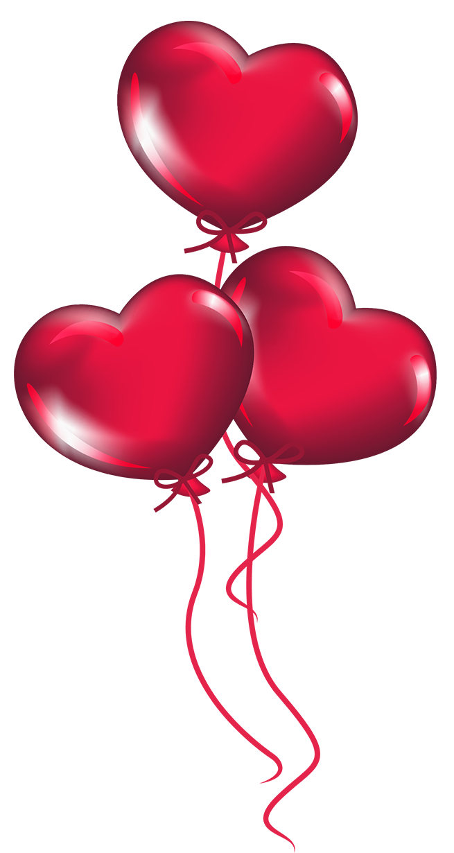 Heart balloon clipart vector black and white download Transparent Heart Balloons PNG Clipart | Gallery Yopriceville ... vector black and white download