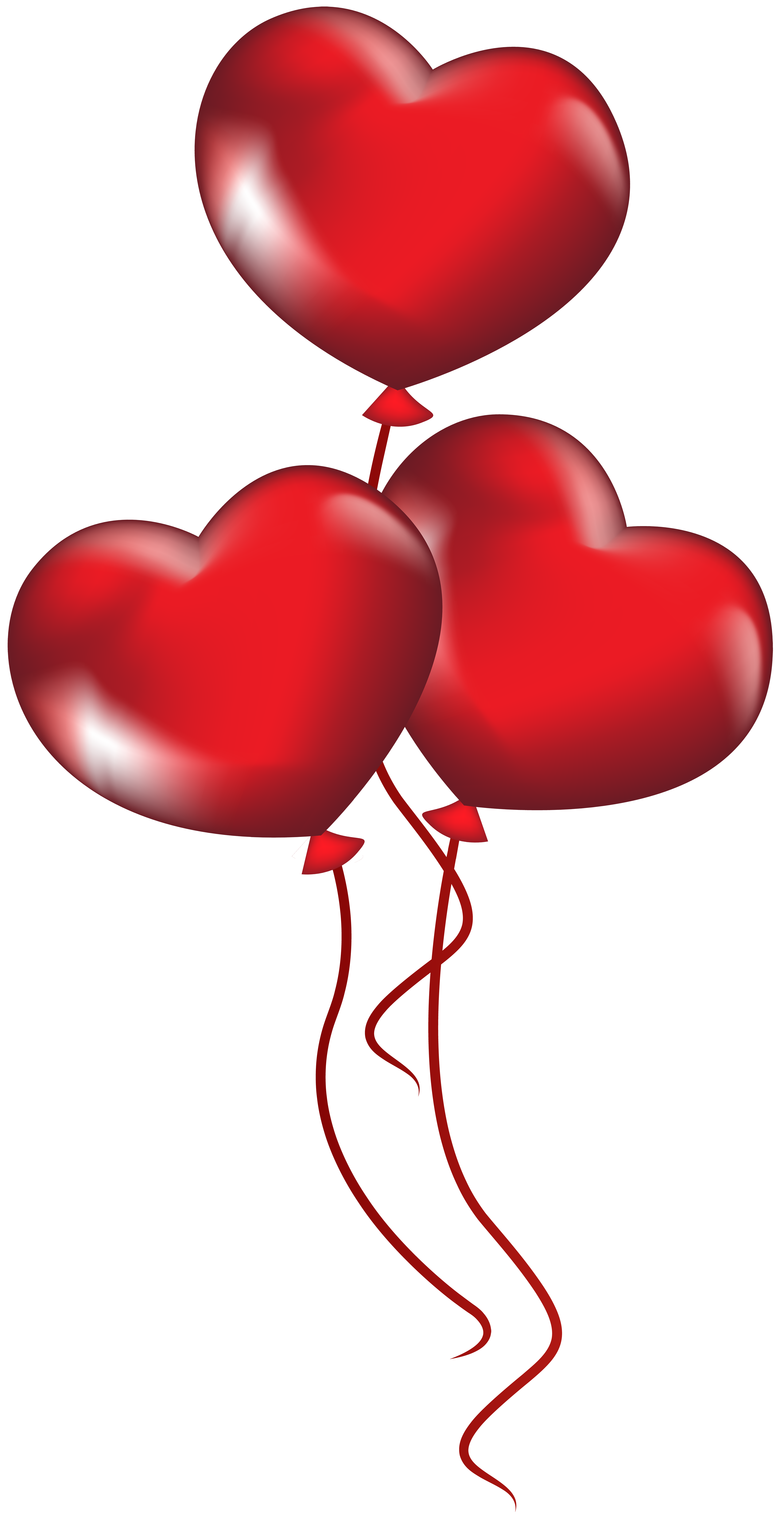 Heart balloons clipart clip art library download Heart Balloons Transparent PNG Clip Art | Gallery Yopriceville ... clip art library download