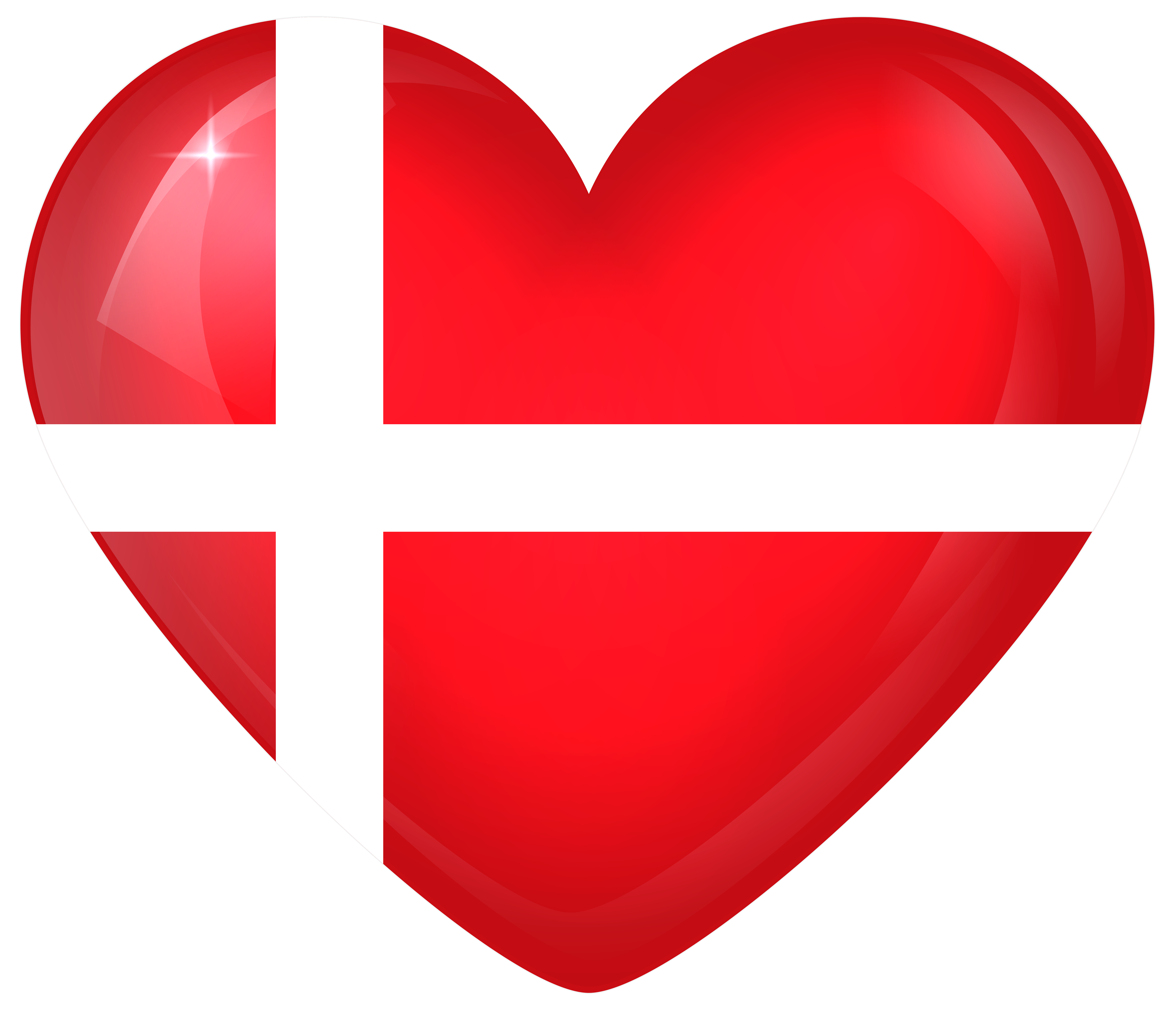 Heart banner clipart png library library Denmark Large Heart Flag | Gallery Yopriceville - High-Quality ... png library library
