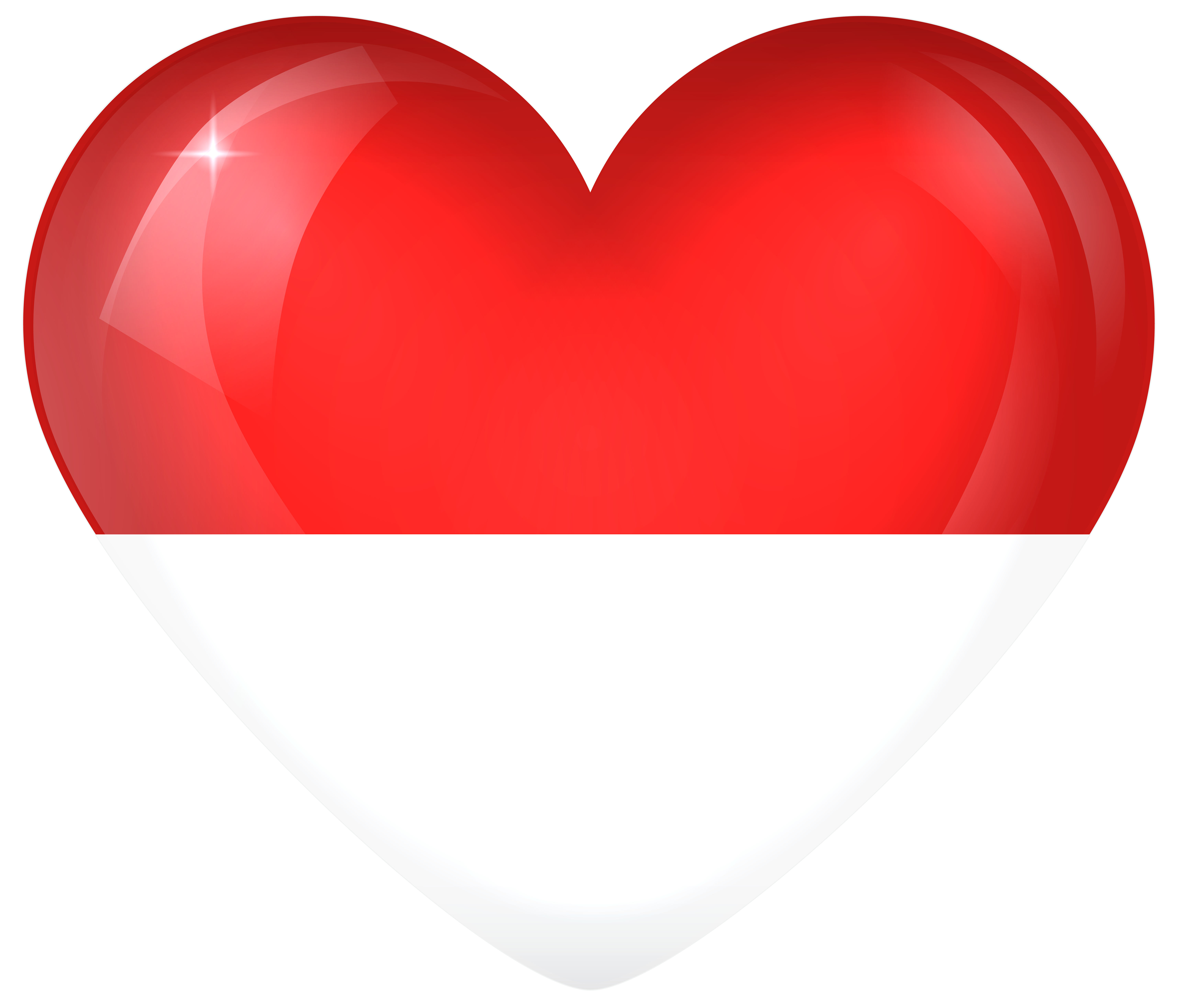 Heart banner clipart jpg free download Indonesia Large Heart Flag | Gallery Yopriceville - High-Quality ... jpg free download