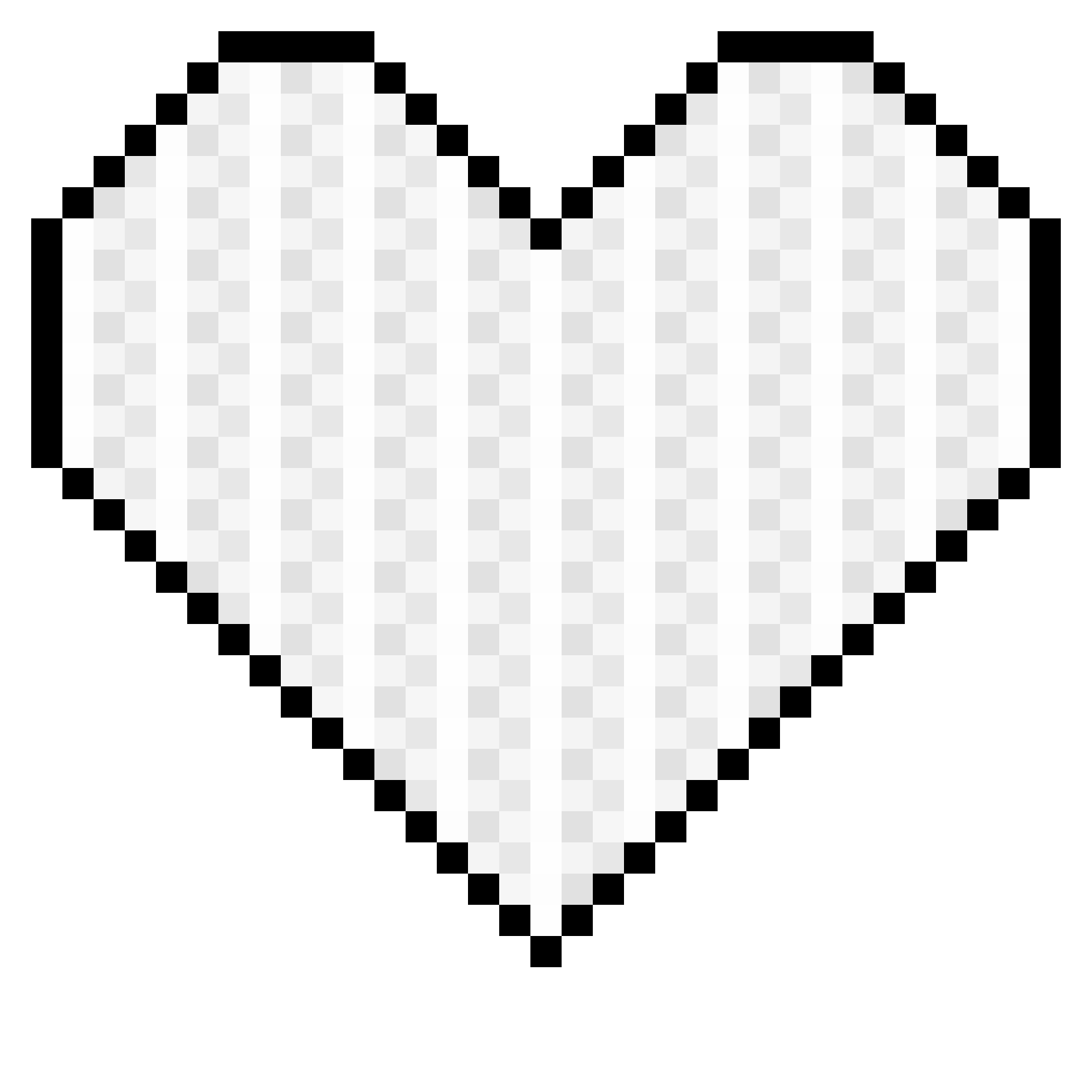 Heart banner clipart jpg transparent stock Pixel Art Heart Clipart jpg transparent stock