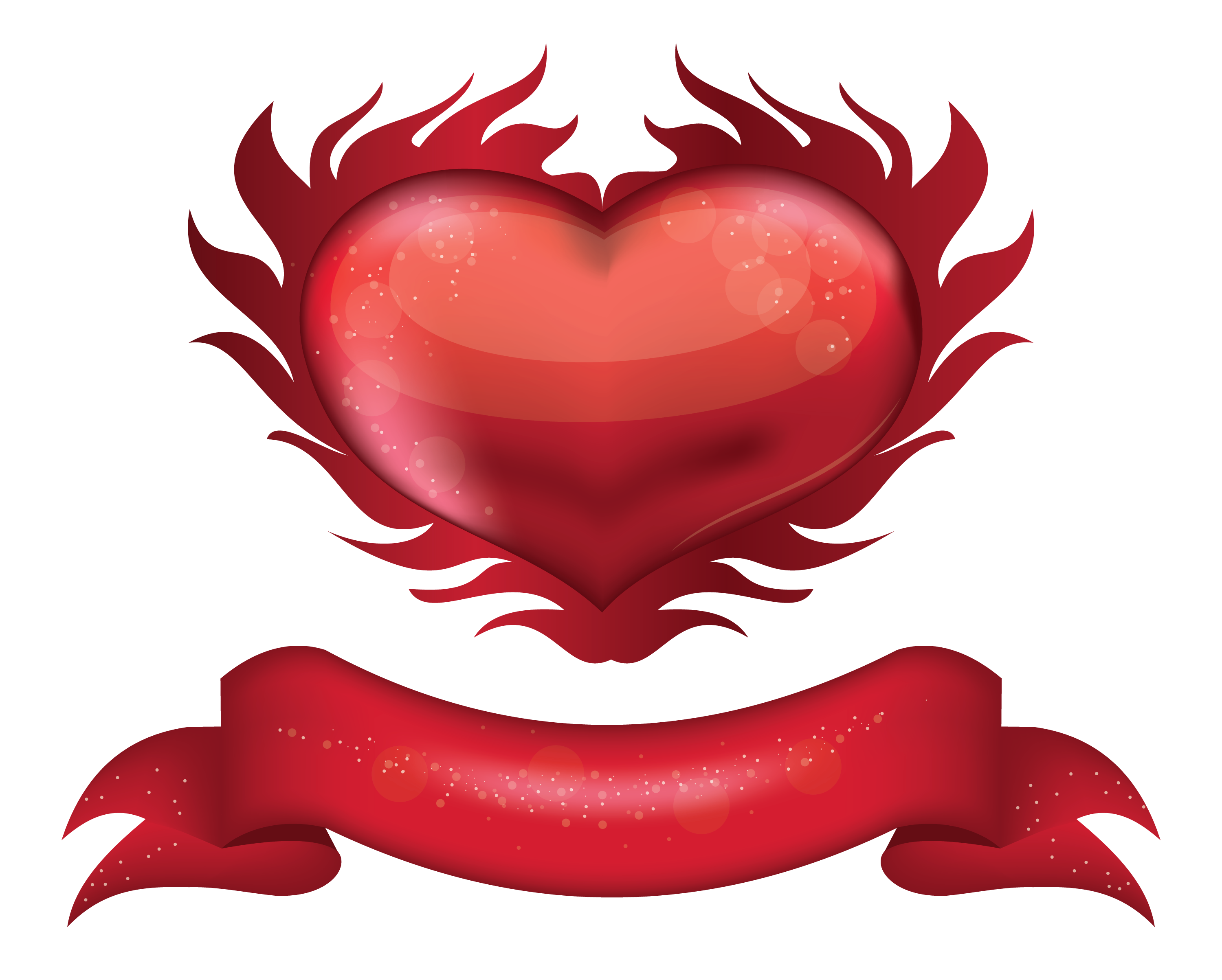 Heart with banner clipart free download Red Heart with Banner PNG Clipart Picture | Gallery Yopriceville ... free download