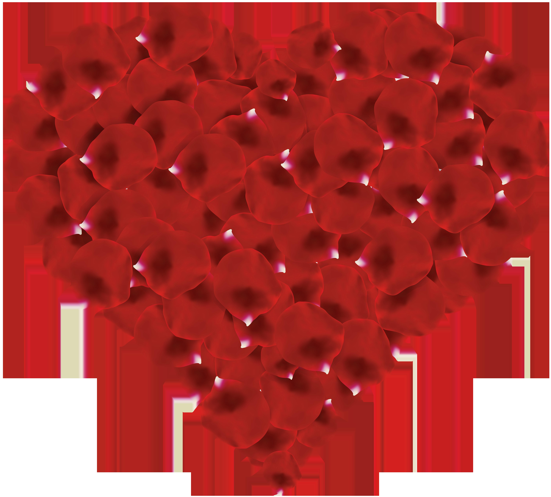 Heart baseball clipart jpg transparent Rose Petals Heart Transparent Clip Art Image | Gallery Yopriceville ... jpg transparent