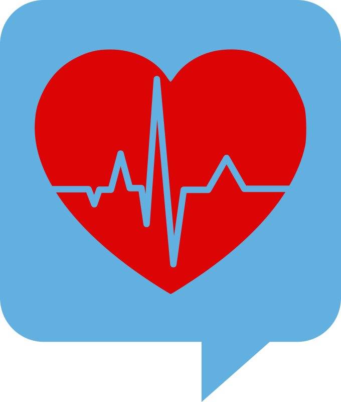 Heart beating clipart picture library library Clipart - Heartbeat Logo for Health.SE. No background. Red heart picture library library