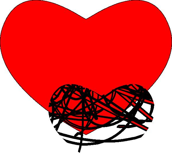 Heart black clipart svg transparent Heart Black And Red Clip Art at Clker.com - vector clip art online ... svg transparent