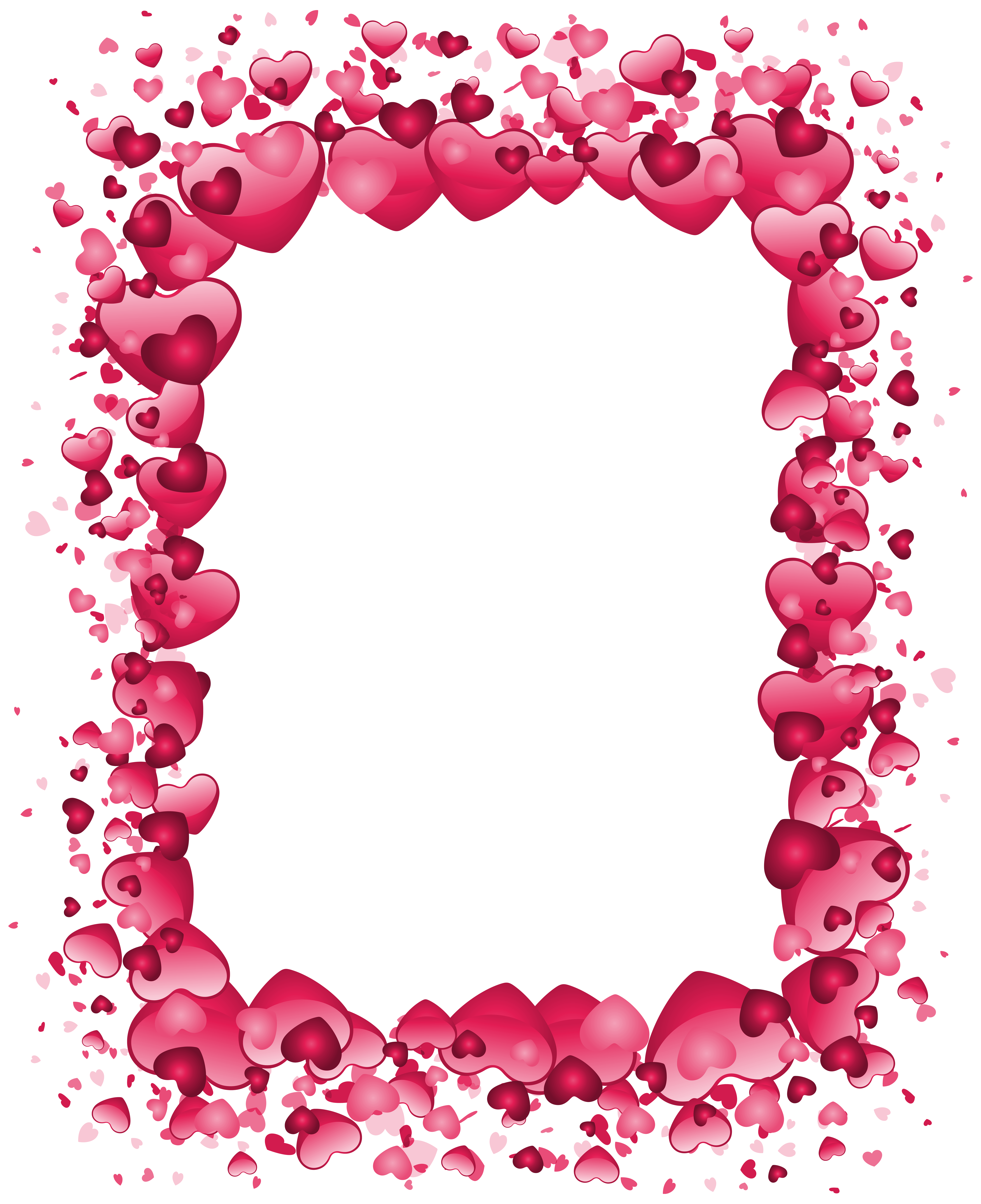Heart border clipart images clipart royalty free Valentine\'s Day Pink Heart Border Transparent PNG Clip Art ... clipart royalty free