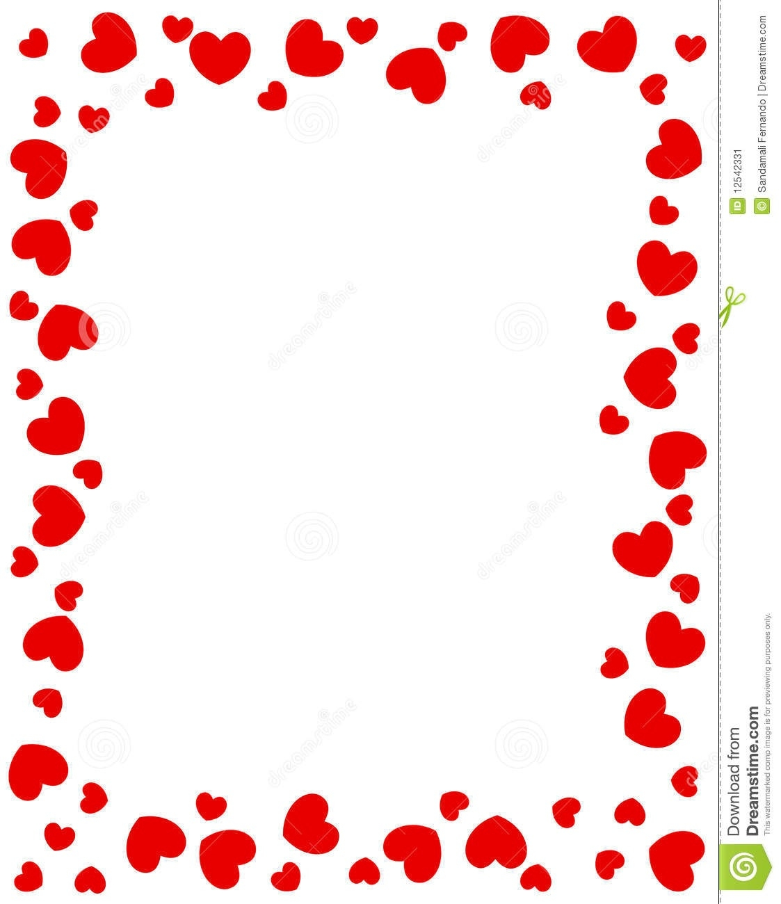 Heart border clipart images png black and white Heart Border Clipart – Free Clip Art Images – Freeclipart.pw ... png black and white