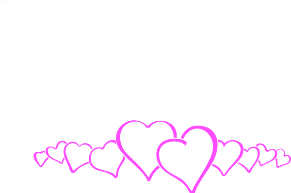 Heart border free clipart banner black and white Heart border free clip art | Clipart Panda - Free Clipart Images banner black and white