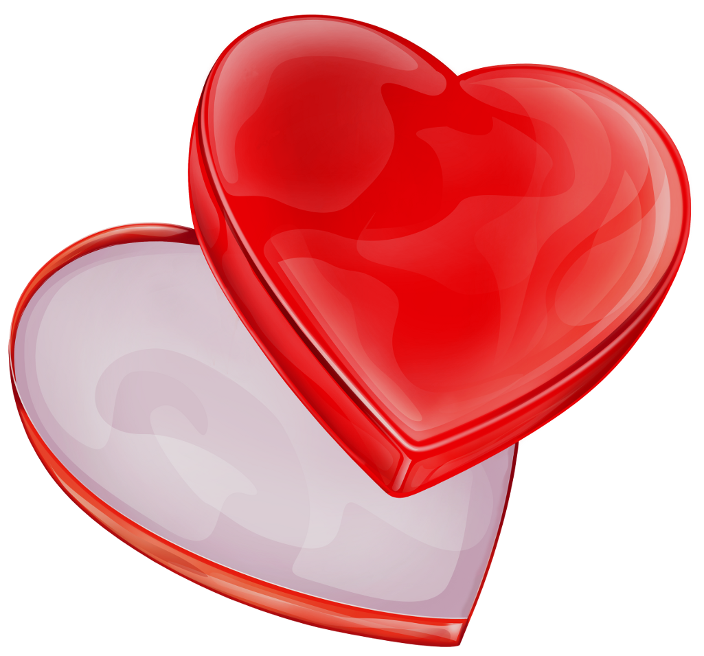 Heart box clipart black and white image royalty free Heart Box PNG Clipart | Gallery Yopriceville - High-Quality Images ... image royalty free