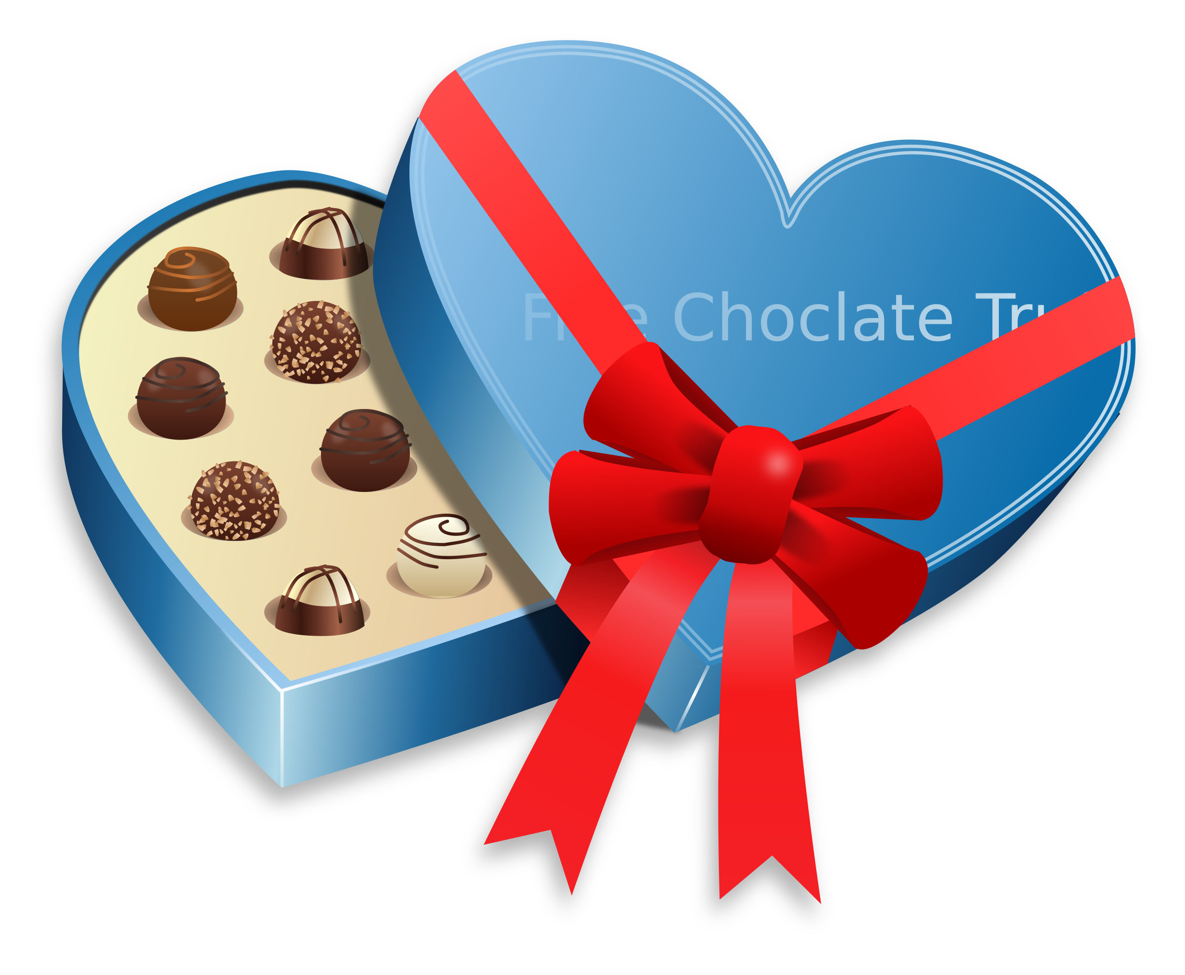 Heart box of chocolates clipart graphic transparent download Clipart - Valentines Day - Love Choclate graphic transparent download