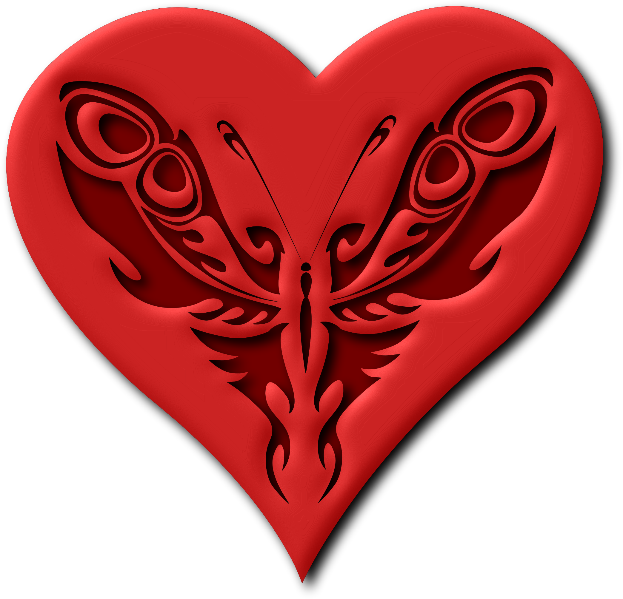 Heart butterfly clipart clipart freeuse stock Clipart - Butterfly heart (version 2) clipart freeuse stock