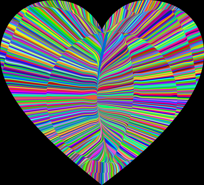 Heart button clipart transparent stock Clipart - Psychedelic Folds Heart transparent stock