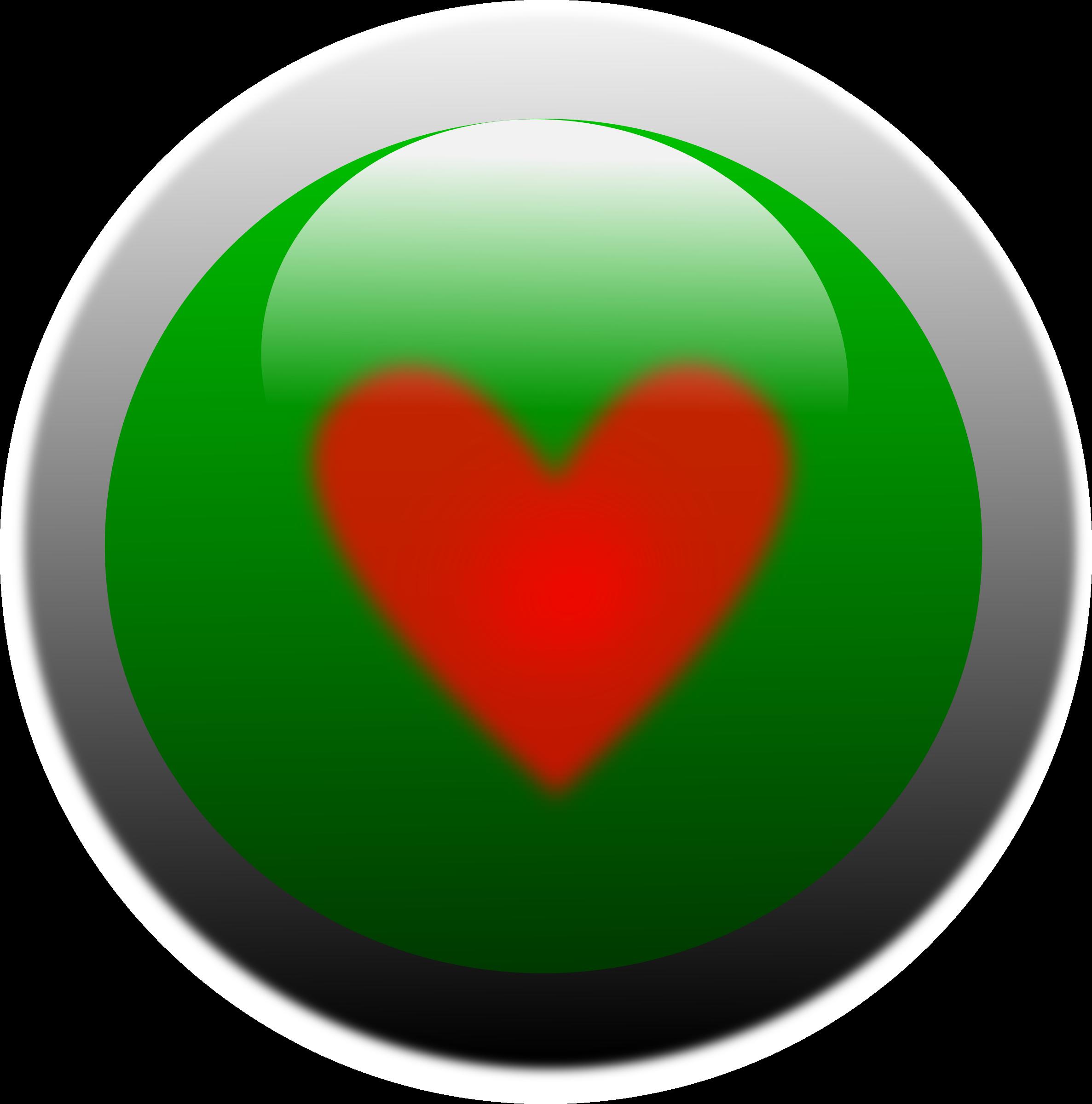 Heart button clipart graphic transparent download Clipart - Love button graphic transparent download