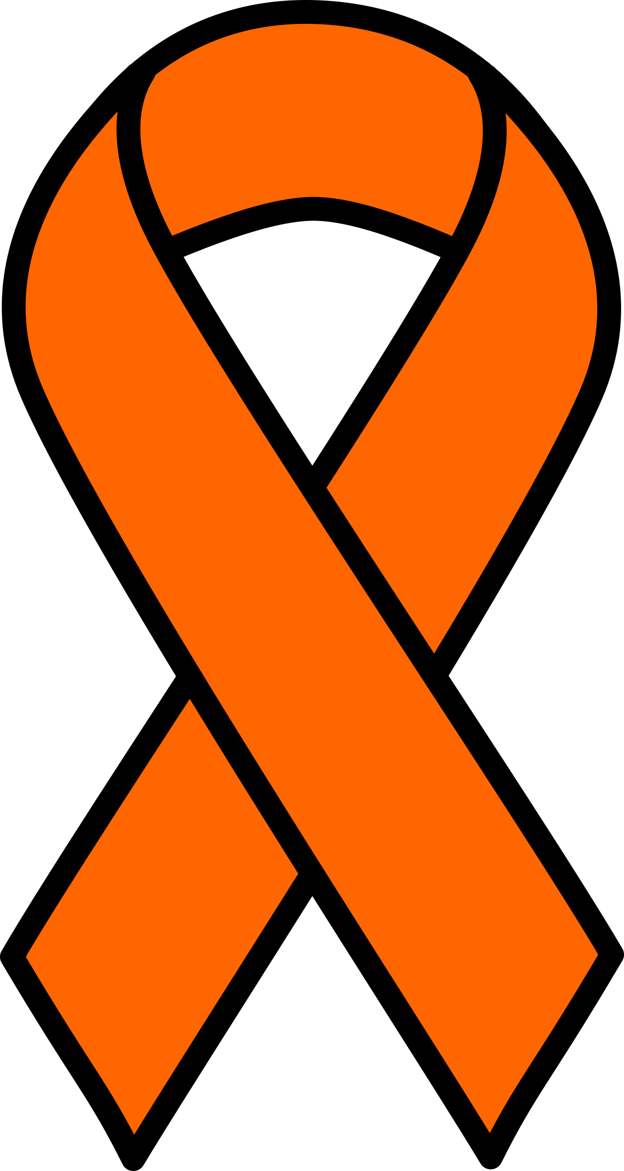 Heart cancer ribbon clipart graphic royalty free download Clipart - Orange Kidney Cancer and Leukemia Ribbon graphic royalty free download