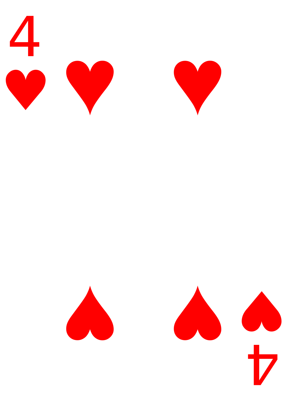 Heart card clipart svg freeuse File:Cards-4-Heart.svg - Wikimedia Commons svg freeuse