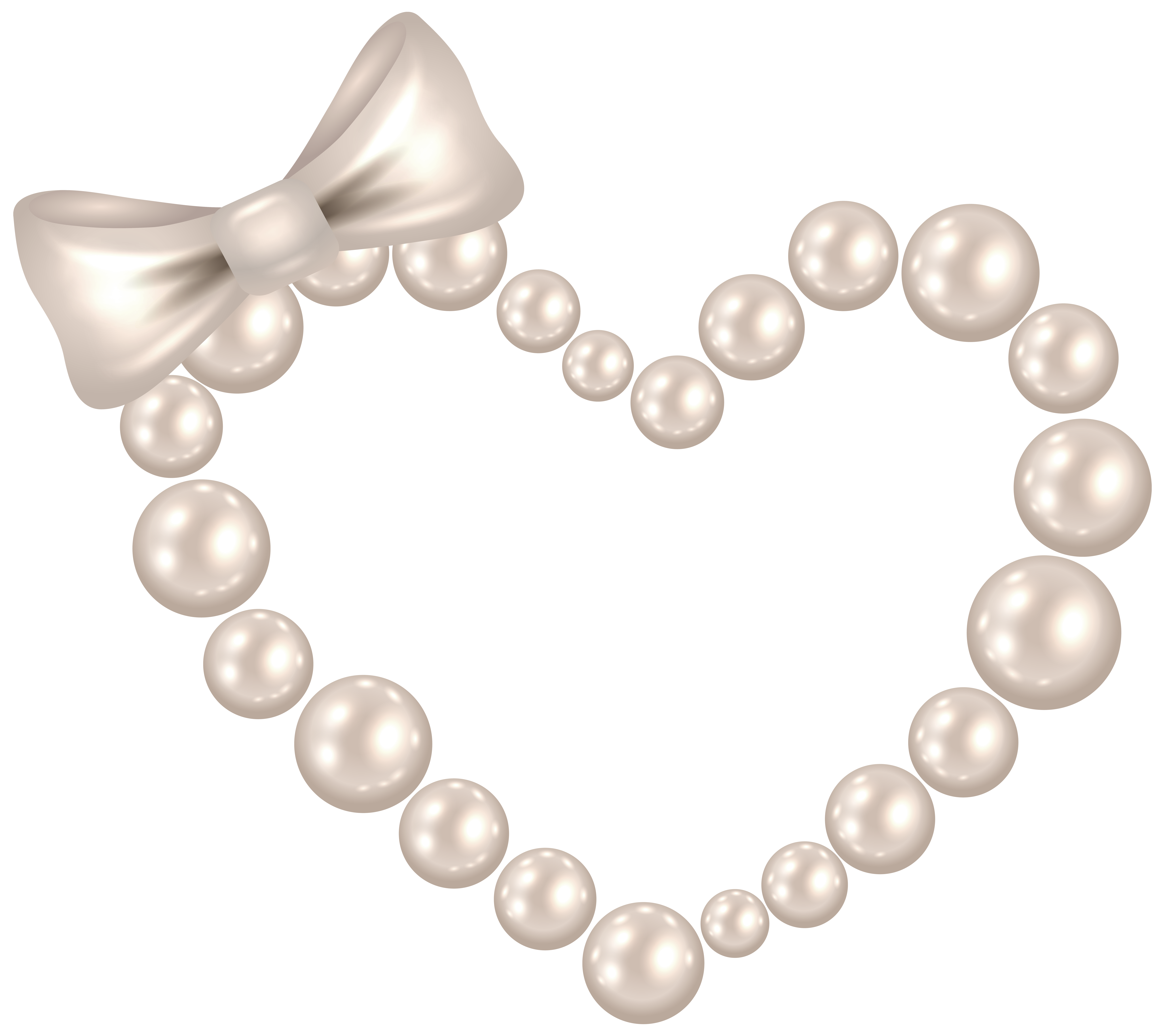 Pearl crown cartoon clipart clip art free library Pearl Heart with Bow Transparent PNG Clip Art Image | CLIPART AND ... clip art free library