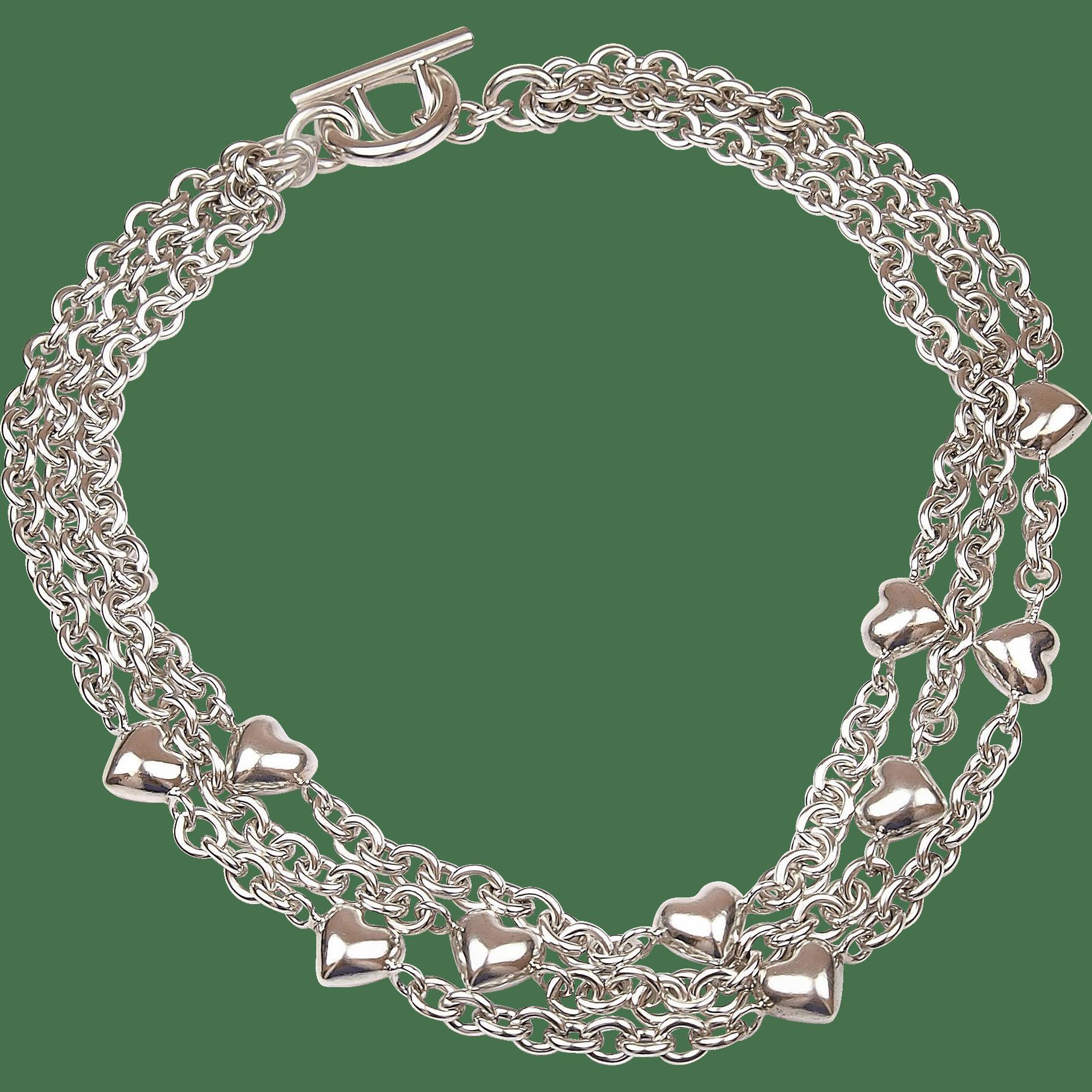 Heart chain clipart vector transparent download Tiffany Heart Necklace - clipart vector transparent download