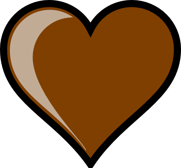 Heart chocolate clipart banner library stock brown hearts | Brown Heart Clip Art at Clker.com - vector clip art ... banner library stock