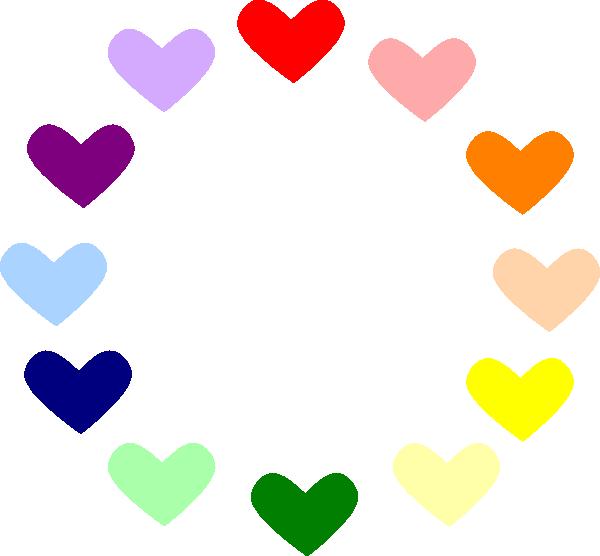 Heart circle clipart svg royalty free Heart Rainbow Clip Art at Clker.com - vector clip art online ... svg royalty free