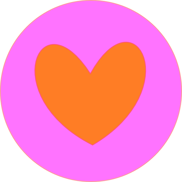 Heart circle clipart image library library Heart In Circle Orange Clip Art at Clker.com - vector clip art ... image library library