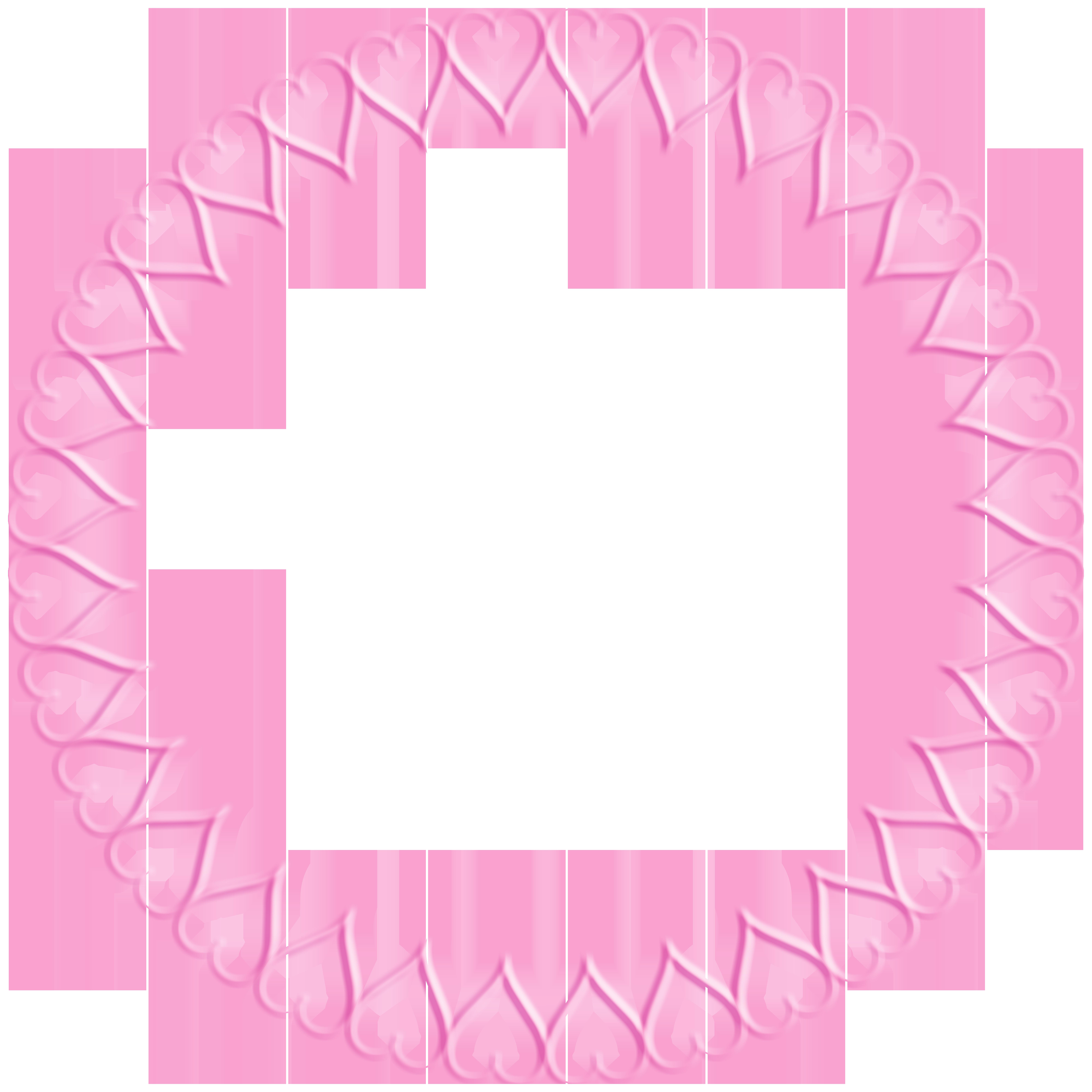Pink heart border clipart jpg freeuse Pink Round Heart Border Transparent Clip Art Image | Gallery ... jpg freeuse