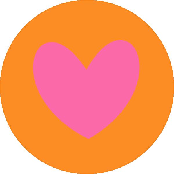 Heart circle clipart royalty free Heart In Circle Orange Clip Art at Clker.com - vector clip art ... royalty free