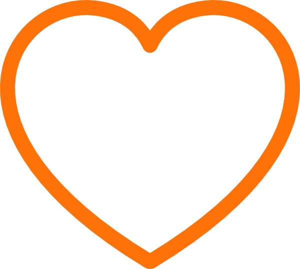 Heart clipart outline graphic freeuse Orange Heart Clipart | Free download best Orange Heart Clipart on ... graphic freeuse