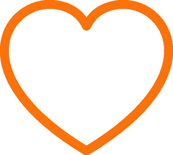 Heart clipart art clipart black and white stock Orange Heart Clipart | Free download best Orange Heart Clipart on ... clipart black and white stock